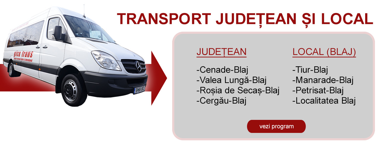Program transport județean (zona Blaj)